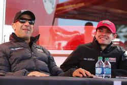 Tony Kanaan and Kyle Larson