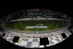 Daytona International Speedway at night
