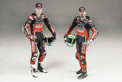 Chaz Davies and Davide Giugliano with the Ducati Panigale R