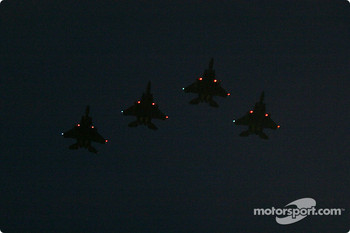 Flyover into the night