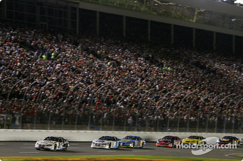 Restart: Ryan Newman leads Kasey Kahne