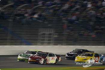 Greg Stewart leads a group of cars