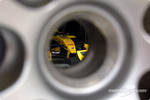 The Jordan EJ14 seen through a wheel