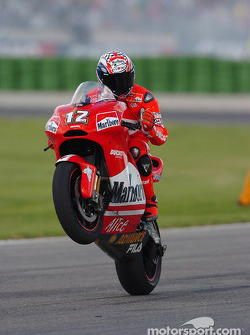 Troy Bayliss celebrates