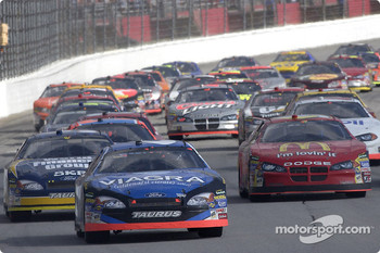 Restart: Mark Martin leads the field