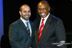 His Highness Sheikh Maktoum Hasher Maktoum Al Maktoum (UAE) CEO A1 Grand Prix with Tokyo Sexwale (RSA) Chairman of Mvelaphamda Holdings and A1 Grand Prix South Africa seat holder