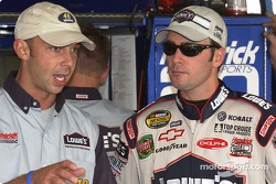Jimmie Johnson with crew chief Chad Knaus
