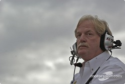 Robert Yates watches race action
