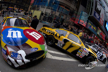NASCAR hardware on display in Times Square