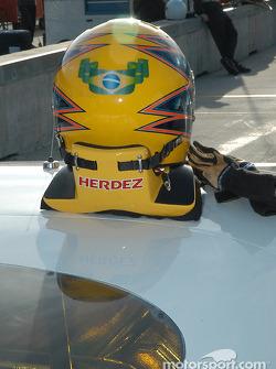 Helmet of Roberto Moreno