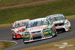 Brad Jones, Jason Bright and Craig Lowndes at Turn 3