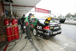 Brad Jones Racing crew members at work