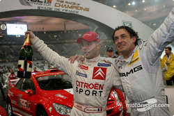 The Nations Cup 2004 winners Jean Alesi and Sébastien Loeb of Team France 1