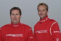 Nissan Dessoude team presentation: co-driver Philippe de Weindel and driver Benoit Rousselot