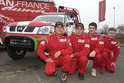 Nissan Dessoude team presentation: Xu Lang and Zhou Yong, Fabian Lurquin and Denis Schurger