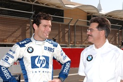 Mark Webber with Dr Mario Theissen