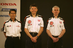 Shoichi Tanaka, Nick Fry and Geoff Willis