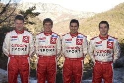 Citroën Sport presentation: Stéphane Prévot, François Duval, Daniel Elena and Sébastien Loeb