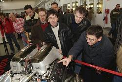 Fans admire Toyota's famous GT-One Le Mans engine