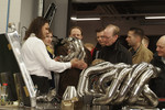 Visitors learn how Toyota manually builds its engine exhausts in Fabrication