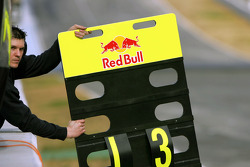 Red Bull Racing pit board