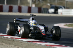 Alexander Wurz tests the new McLaren Mercedes MP4-20