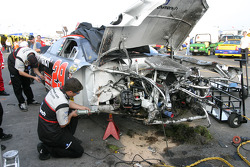 Wrecked car of Kevin Harvick