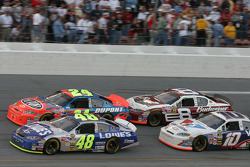 Jimmie Johnson, Jeff Gordon, Dale Earnhardt Jr. and Scott Riggs