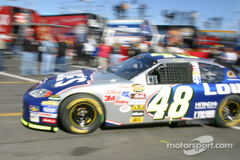 Jimmie Johnson heads to track