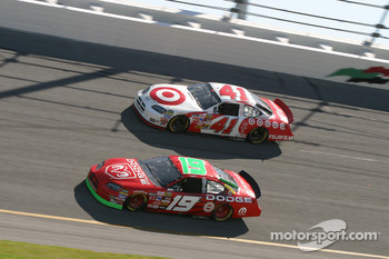 Jeremy Mayfield and Casey Mears