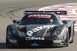 Giuseppe Perazzini tests the Team Racing Box Maserati MC12 GT1