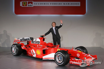 Luca di Montezemelo with the new Ferrrari F2005