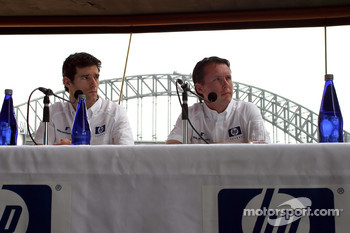 Williams-BMW HP event at the Opera House in Sydney: Mark Webber and Sam Michael