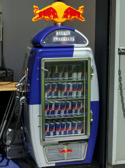 Red Bull refuel fridge