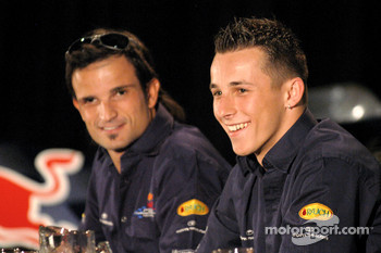 Red Bull Racing press conference: Vitantonio Liuzzi and Christian Klien