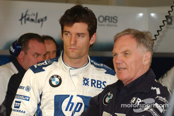 Mark Webber and Patrick Head