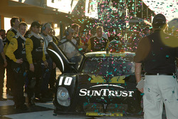 Victory lane: celebration for SunTrust Racing team