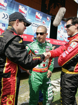 Tomas Enge, Tony Kanaan and Bryan Herta