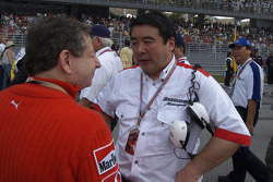Jean Todt on the starting grid