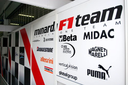 Minardi garage area