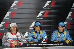 FIA Saturday press conference: Jarno Trulli, Fernando Alonso and Giancarlo Fisichella