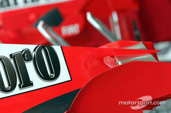 Detail of the new Ferrari F2005