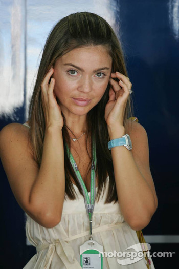 David Coulthard's girlfriend Simone