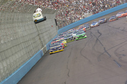 Kurt Busch leads the first lap