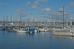 Fisherman's Wharf over beautiful Monterey Bay