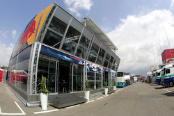 Red Bull Racing hospitality: the 'Red Bull Energy Station'