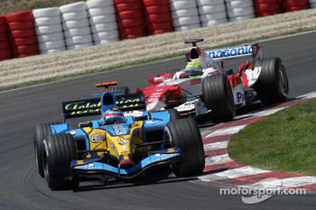 Fernando Alonso and Ralf Schumacher