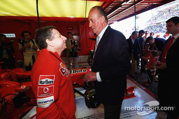 Jean Todt and Juan Carlos King of Spain