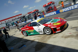 Final pitstop for #86 G.P.C. Sport Ferrari 360 Modena: Gabrio Rosa, Luca Drudi