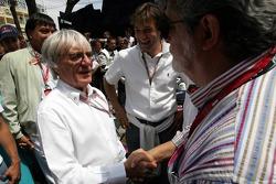 Bernie Ecclestone and George Lucas